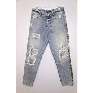 NWT Zara Men Size 31 Distressed Jeans